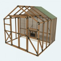 10X10 E-Z Frame Chicken Coop & Run Kit