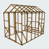 8X12 E-Z Frame Coop & Run Kit