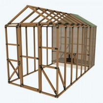 8X16 E-Z Frame Chicken Run with Coop Kit
