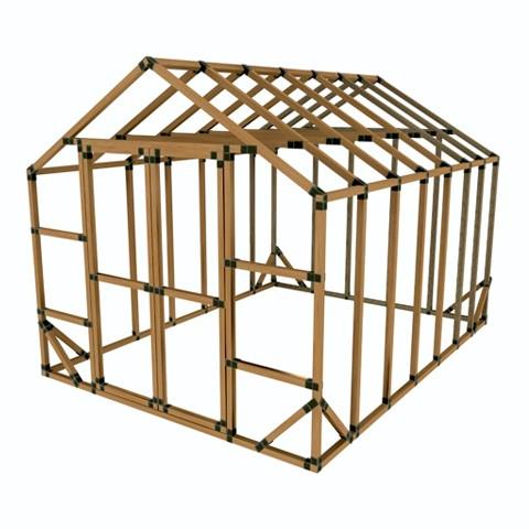 10X14 E-Z Frame Greenhouse or Storage Shed Kit