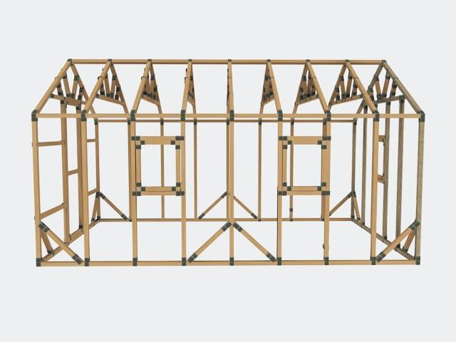 10x16 E Z Frame Tiny House