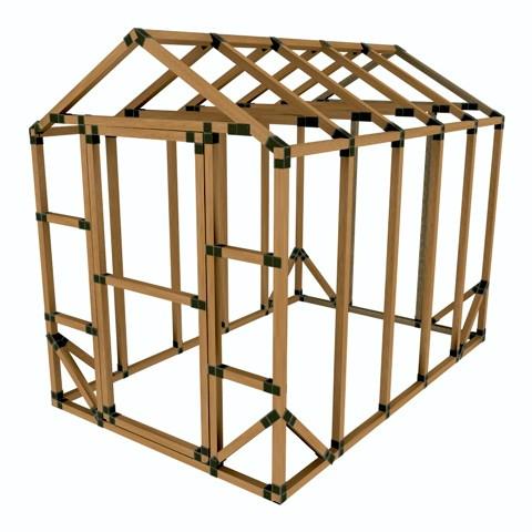 5X12 E-Z Frame Greenhouse or Storage Shed Kit