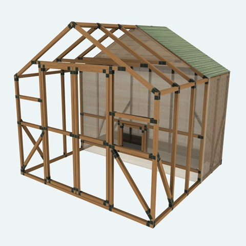 10x10 e z frame chicken coop run kit