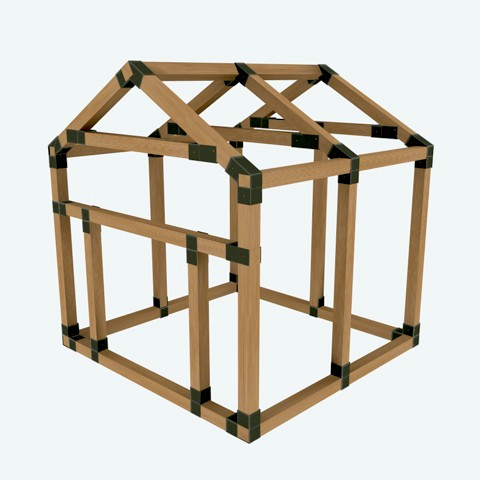 38x38 e z frame pet house kit for A frame building kits