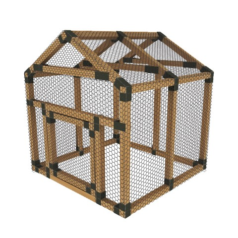 38x38 e z frame chicken run kit
