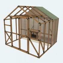 10X10 E-Z Frame Chicken Coop & Run Kit